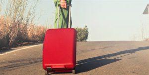 תיק מזוודה אדום הניתן למיתוג