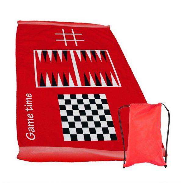 מגבת עם משחקים צבע אדום