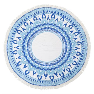 מגבת עגולה צבע כחול