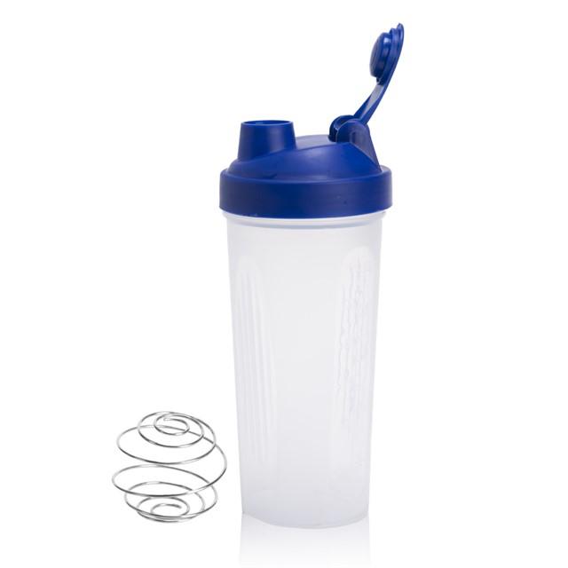 בקבוק דגם שייקר עם קפיץ צבע כחול