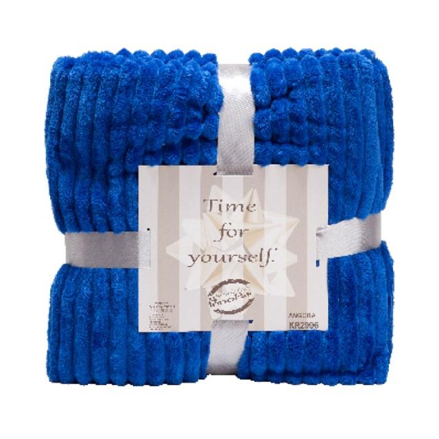 שמיכה זוגית ממותגת כחולה
