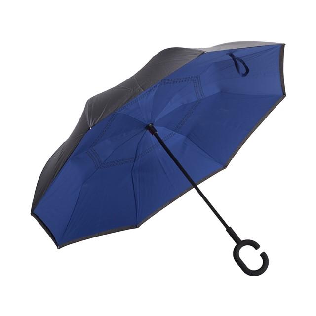 מטריה דגם באגו מתהפכת כחול שחור
