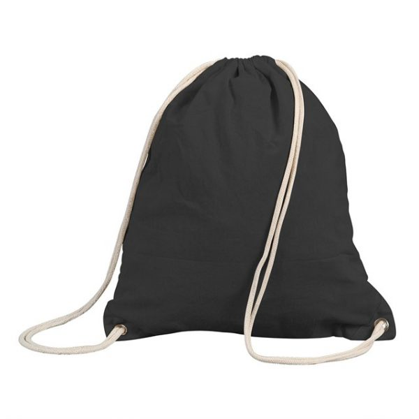 תיק שרוכים עשוי כותנה צבע שחור