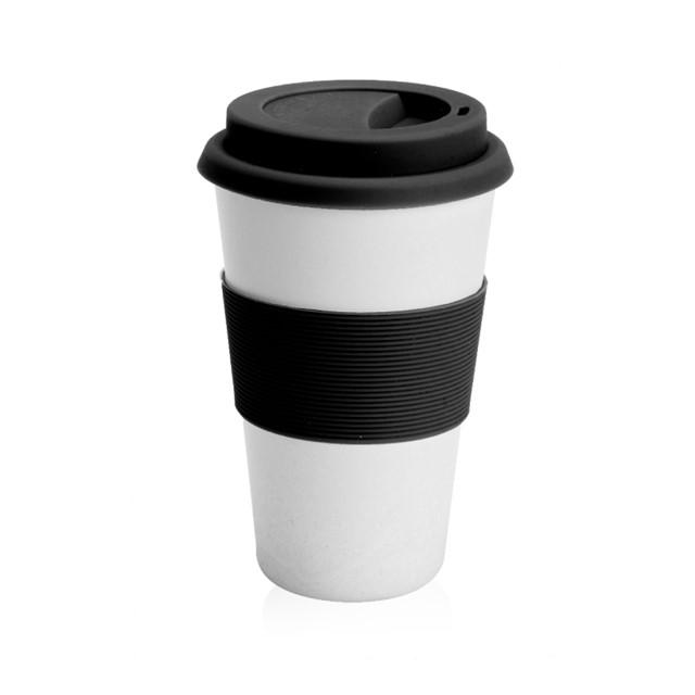 כוס תרמית דגם גאלה אורגנית צבע שחור