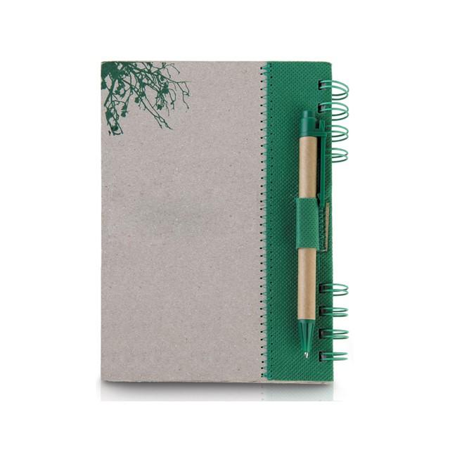 מחברת דגם לופה צבע ירוק