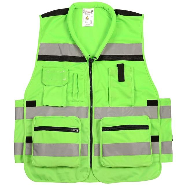 אפוד זוהר מלא לעבודה בצבע ירוק